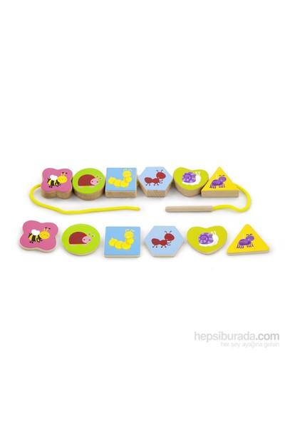 Vıga Toys İp Dizme - Hayvanlar