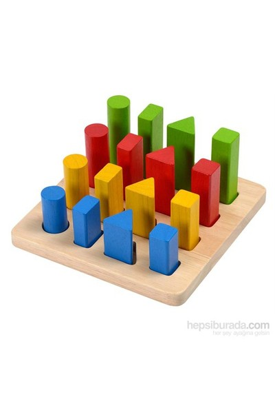Plantoys Geometrik Çubuk Tahtası (Geometric Peg Board)