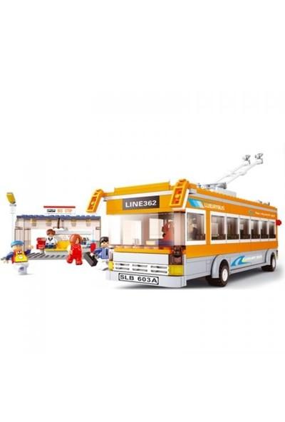 Sluban Yapboz Blok 457 Parça Lijnbus Met Metrobüs
