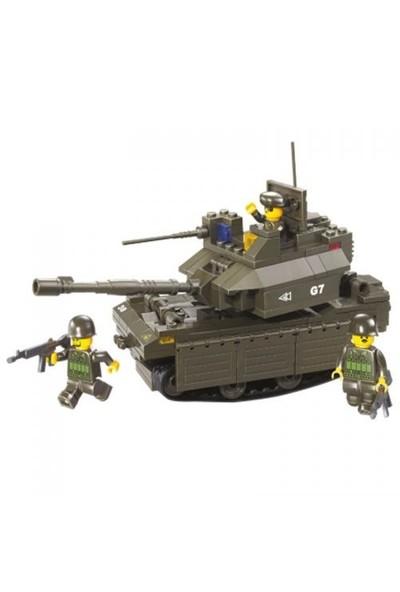 Sluban Yapboz Blok 215 Parça Ac M1a2 Ambrams Tank