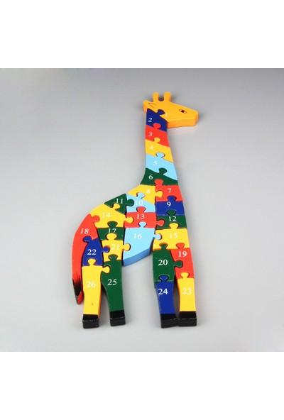Ylz Zürafa Ahşap Puzzle 26 Parça
