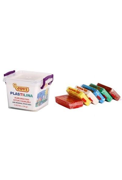 Jovi 6 Renk 50 Gram Plastilina Oyun Hamuru Plastik Kutuda