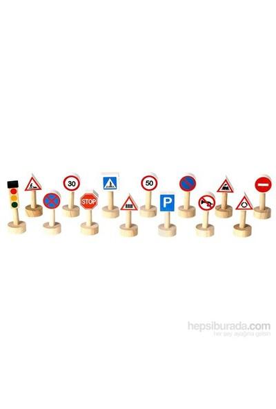 Plantoys Trafik İşaretleri Ve Işıklar Seti (Set Of Traffic Signs & Lights)