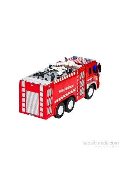 Vardem Fire Fighter Sürtmeli 1:16 İtfaiye Aracı Sesli Işıklı Ve Su Tanklı