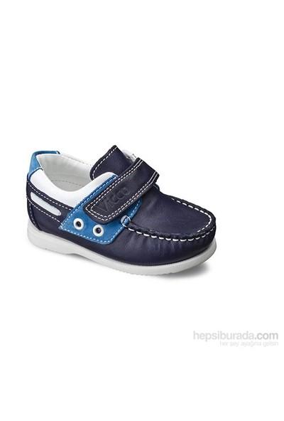 Vicco Cırtlı Bebe Deri Ayakkabı Lacivert