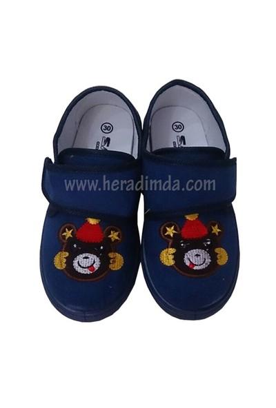 Sanbe Çocuk Lacivert Ayıcıklı Anaokulu Ayakkabısı