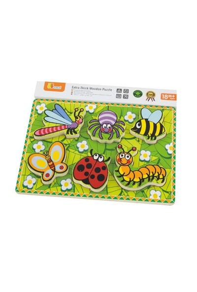 Vıga Toys 2D Sevimli Böcekler Puzzle