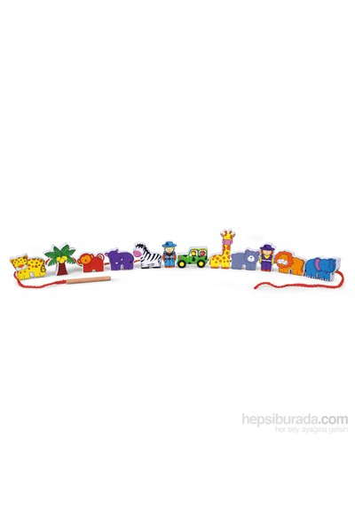 Vıga Toys İp Dizme - Safari