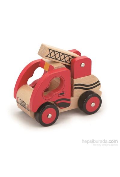 Vıga Toys Ahşap İtfaiye Arabası