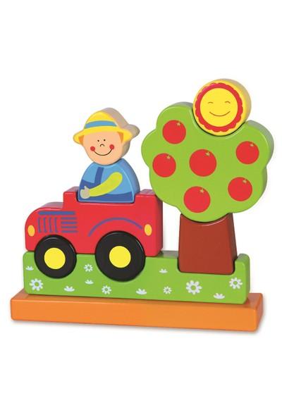 Vıga Toys 3D Puzzle Blok - Çiftlik