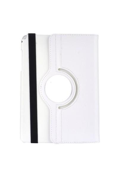 Gpack Samsung Galaxy Tab 4 T530 Kılıf Standlı Kapaklı - Beyaz