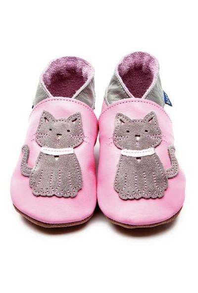 İnch Blue Hakiki Deriden Patik Meeow Baby Pink