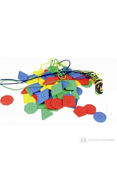 QL 32 Parça Figürlü İp Geçirme Zeka Oyunu+Plastik Kutulu