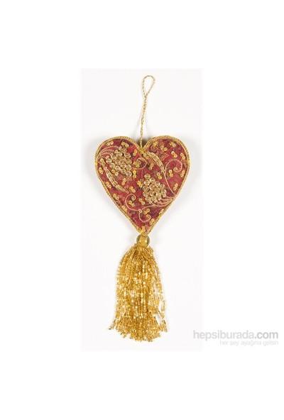 I Love Home İşlemeli Kalp