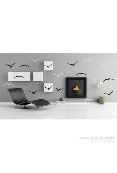 Bestasticker Siyah Beyaz Kuşlar Sticker