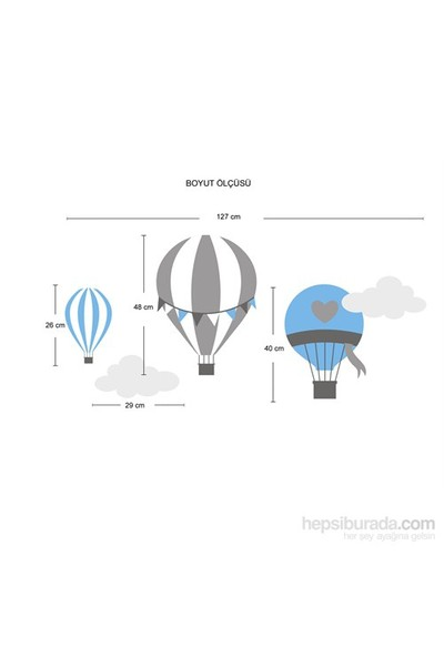 Bestasticker Uçan Balonlar Sticker