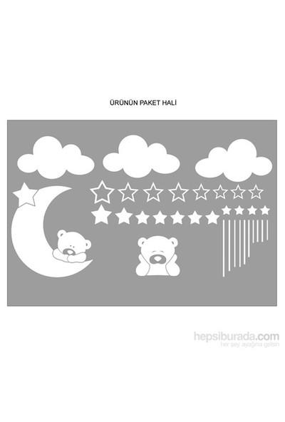 Bestasticker Ayıcık Bulutlar Yıldızlar Sticker