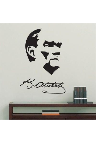 Modelce Atatürk İmza Duvar Sticker ve 2 adet Priz Sticker