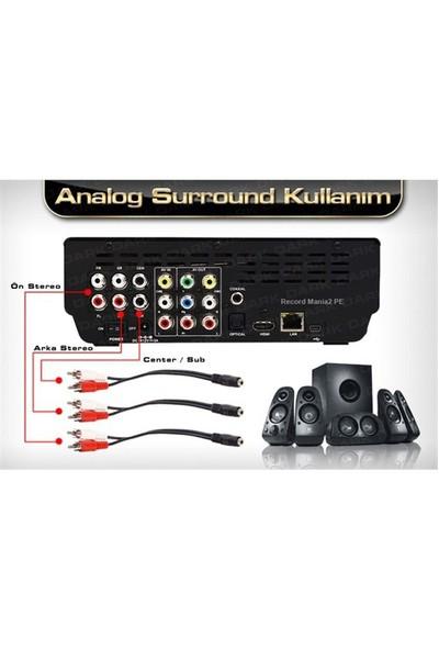 Dark 2xRCA Stereo Dönüştürücü Kablo (DK-CB-AU35XRCA)