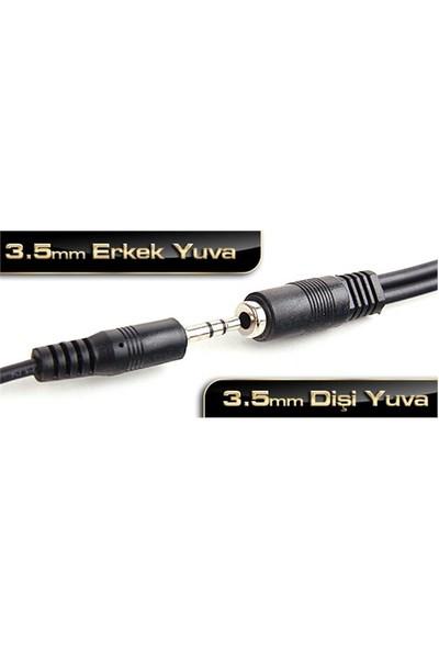 Dark 2.5 Metre Stereo Ses Uzatma Kablosu(3.5mm Dişi - 3.5mm Erkek)(DK-CB-AUEXTL250)