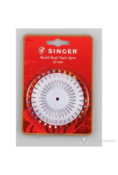 Singer 200-56 Renkli Başlı Toplu İğne (32 adet)