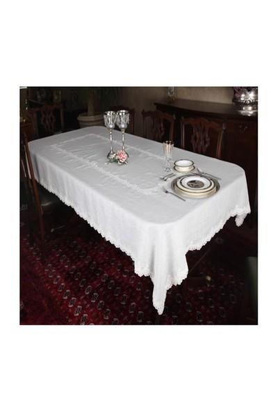 Mella Home Candle Dantelli Masa Örtüsü 140X270