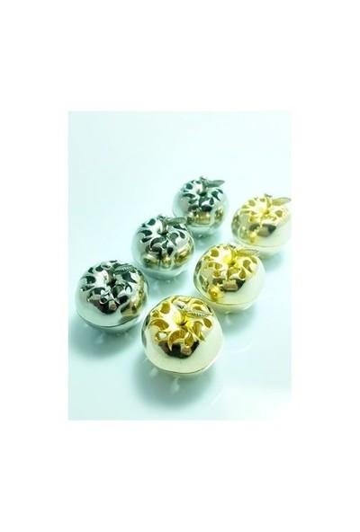 Toptansüs Delikli Metal Lokumluk Altın - 10 Adet / Paket