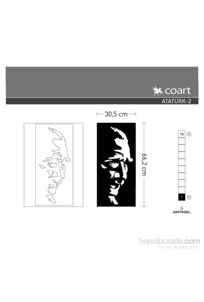 Artikel Atatürk-2 Kadife Duvar Sticker