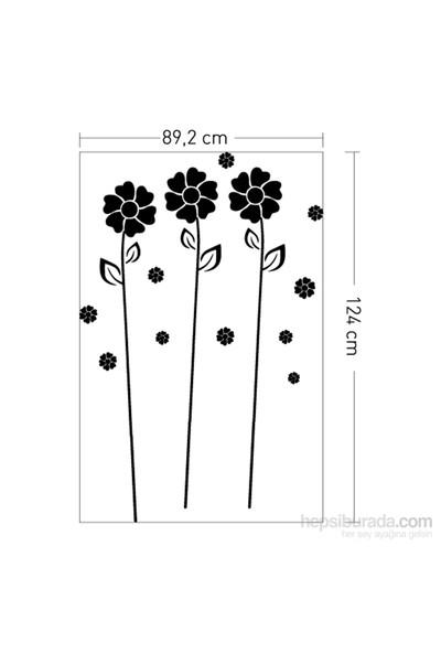 Papatyalar Kadife Duvar Sticker 22X124 Cm