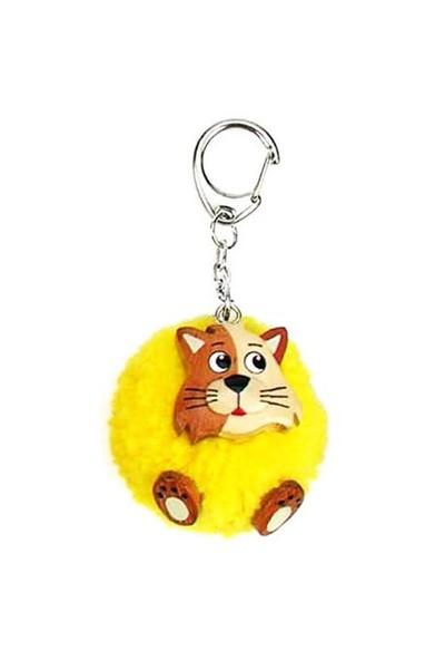 Nev-Ecolinea Pom Pom Anahtarlık Cat