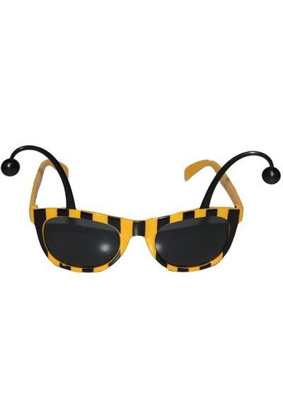 Pandoli Antenli Arı Gözlük Sarı Siyah Çizgili Parti Gözlüğü