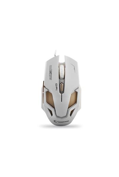 Rampage Smx-R1 Usb Beyaz 4000 Dpi 7 Farklı Işık Makrolu Oyuncu Mouse