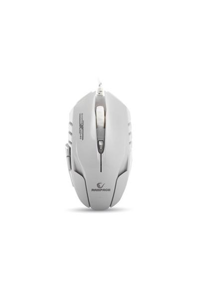 Rampage Smx-R2 Usb Beyaz 4000 Dpi 7 Farklı Işık Makrolu Oyuncu Mouse