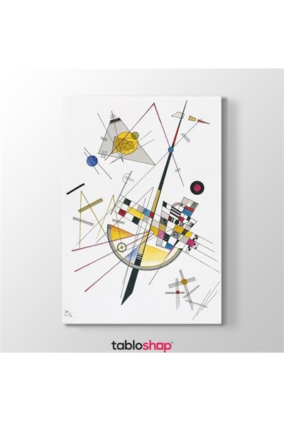 Tabloshop Wassily Kandinsky - Delicate Tension Tablosu