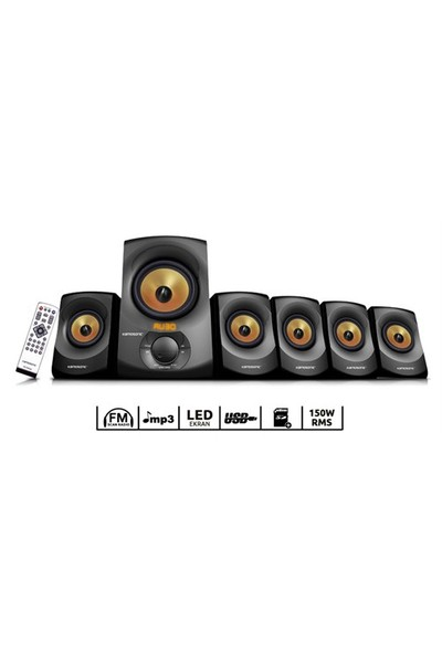 Kamosonic KS-ES534 Radio-USB-SD 5+1 Ev Sinema Sistemi
