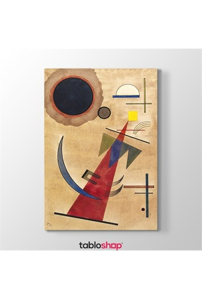 Tabloshop Wassily Kandinsky - Rot İn Spitzform Tablosu