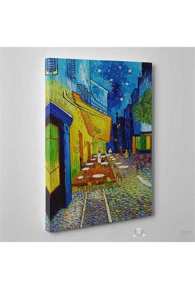 Tabloshop - Van Gogh - Terrasse De Cafe Canvas Tablo - 75X50cm