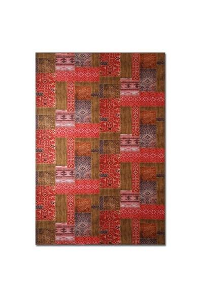 Merlina Home Patchwork Desen Kadife Halı