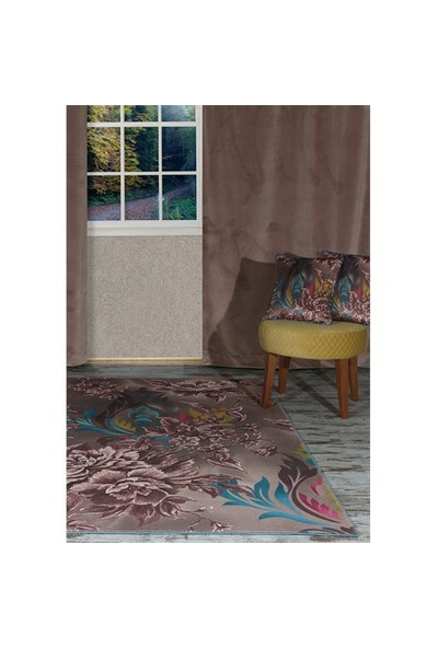 Merlina Home Modern Desen Kadife Halı