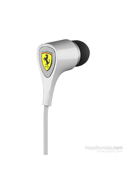Ferrari by Logic3 S100 Scuderia Delta Kulakiçi Beyaz Kulaklık