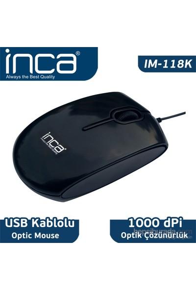 Inca IM-118K Usb Optik Piano Black Mouse