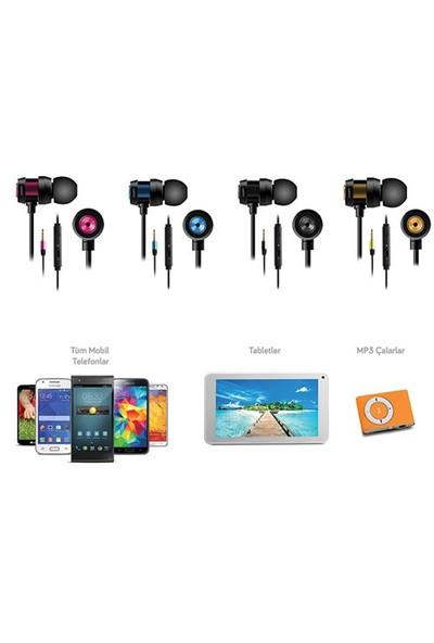Snopy Sn-J01 Mobil Telefon Uyumlu Kulak İçi Gümüş Mikrofonlu Kulaklık