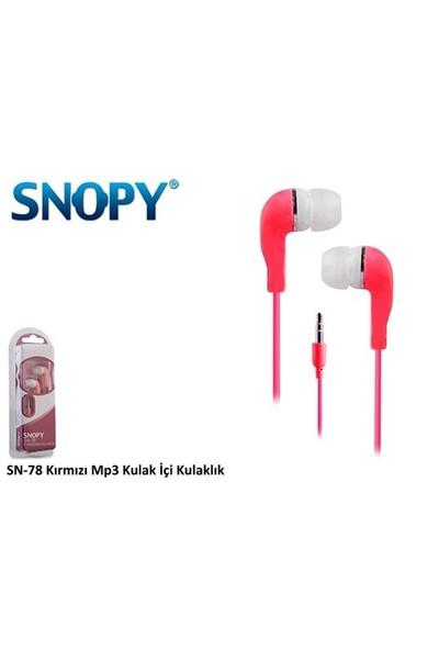Snopy Snopy Sn-78 Kırmızı Mp3 Kulaklık