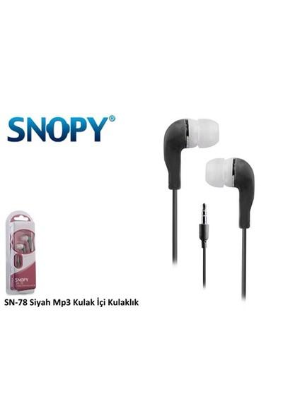 Snopy Snopy Sn-78 Siyah Mp3 Kulaklık