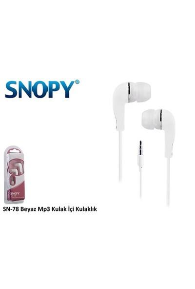 Snopy Snopy Sn-78 Beyaz Mp3 Kulaklık