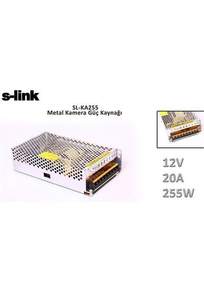 S-Link Sl-Ka255 12V 20A 255W Metal Kamera Güç Kaynağı