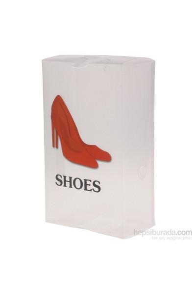 Gold Dekor Ayakkabı Saklama Kutusu Kırmızı 3 Lü.