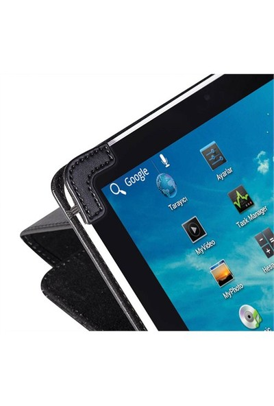"Eye-Q EQ-LTAB7BK 7"" Siyah Suni Deri Universal Tablet Kılıfı"