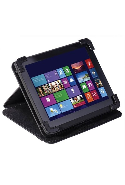 "Eye-Q EQ-LTAB8BK 8"" Siyah Suni Deri Universal Tablet Kılıfı"