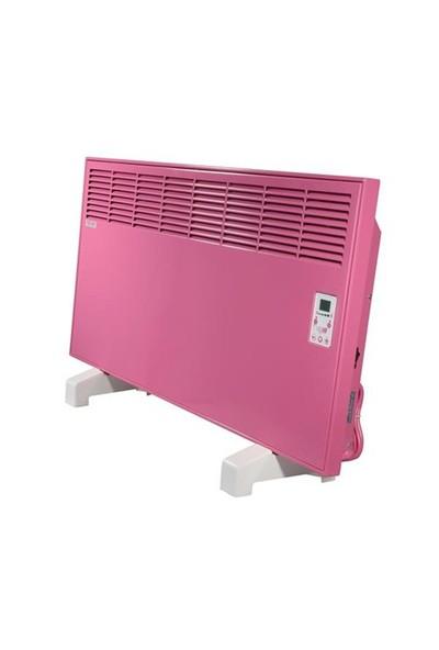 Vigo Elektrikli Panel Konvektör Isıtıcı Dijital 2000 Watt Pembe Epk4590e20p
